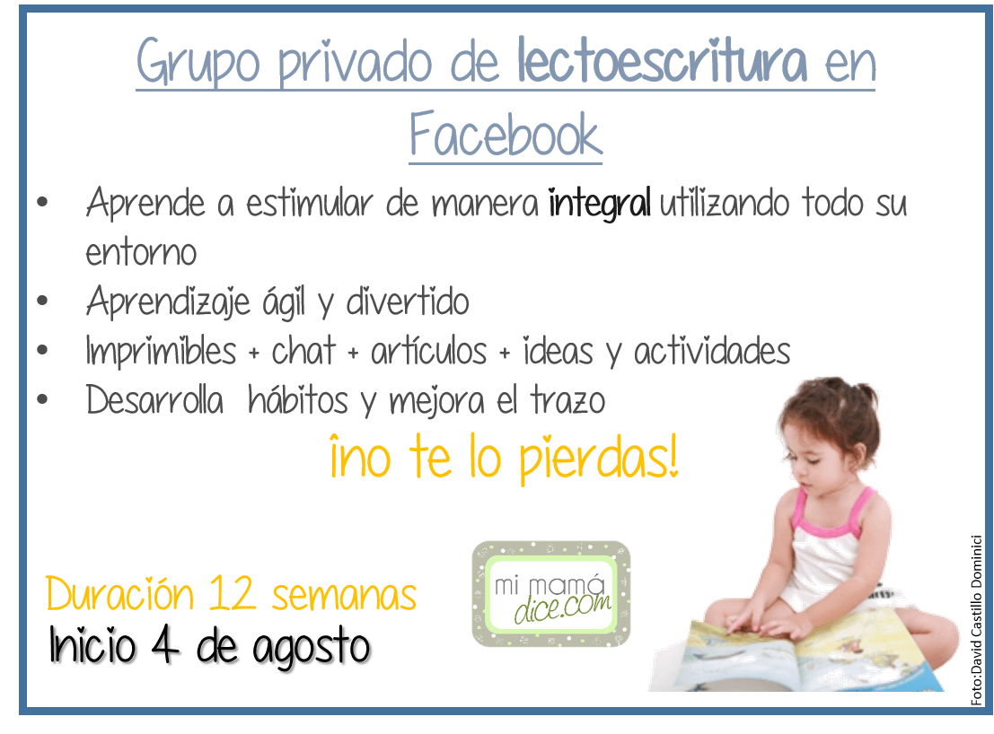 Grupo facebook lectoescritura mi mam dice for Grupo facebook